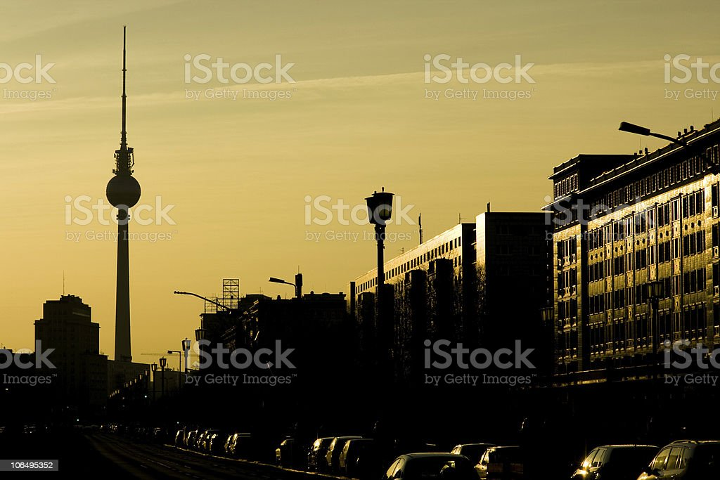 Sunset Berlin royalty-free stock photo