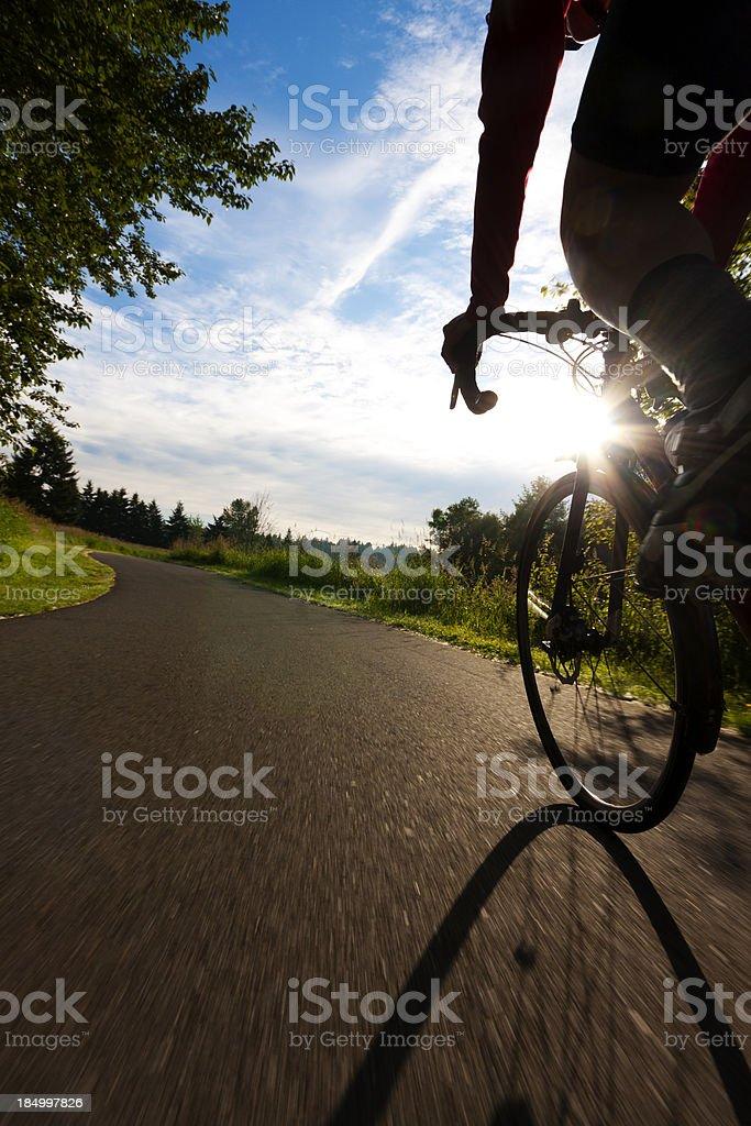 Sunset Bicycle Ride stock photo