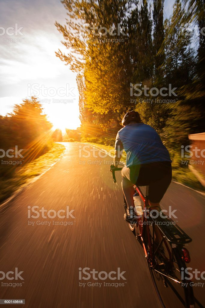 Sunset Bicycle Ride stock photo