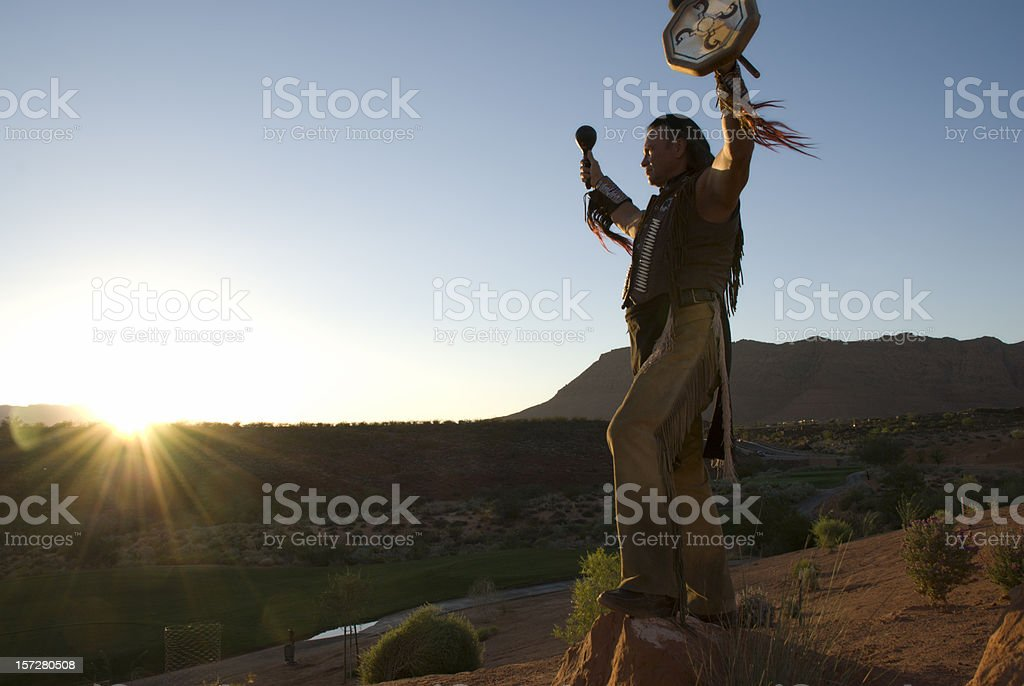 Sunset Blessing royalty-free stock photo