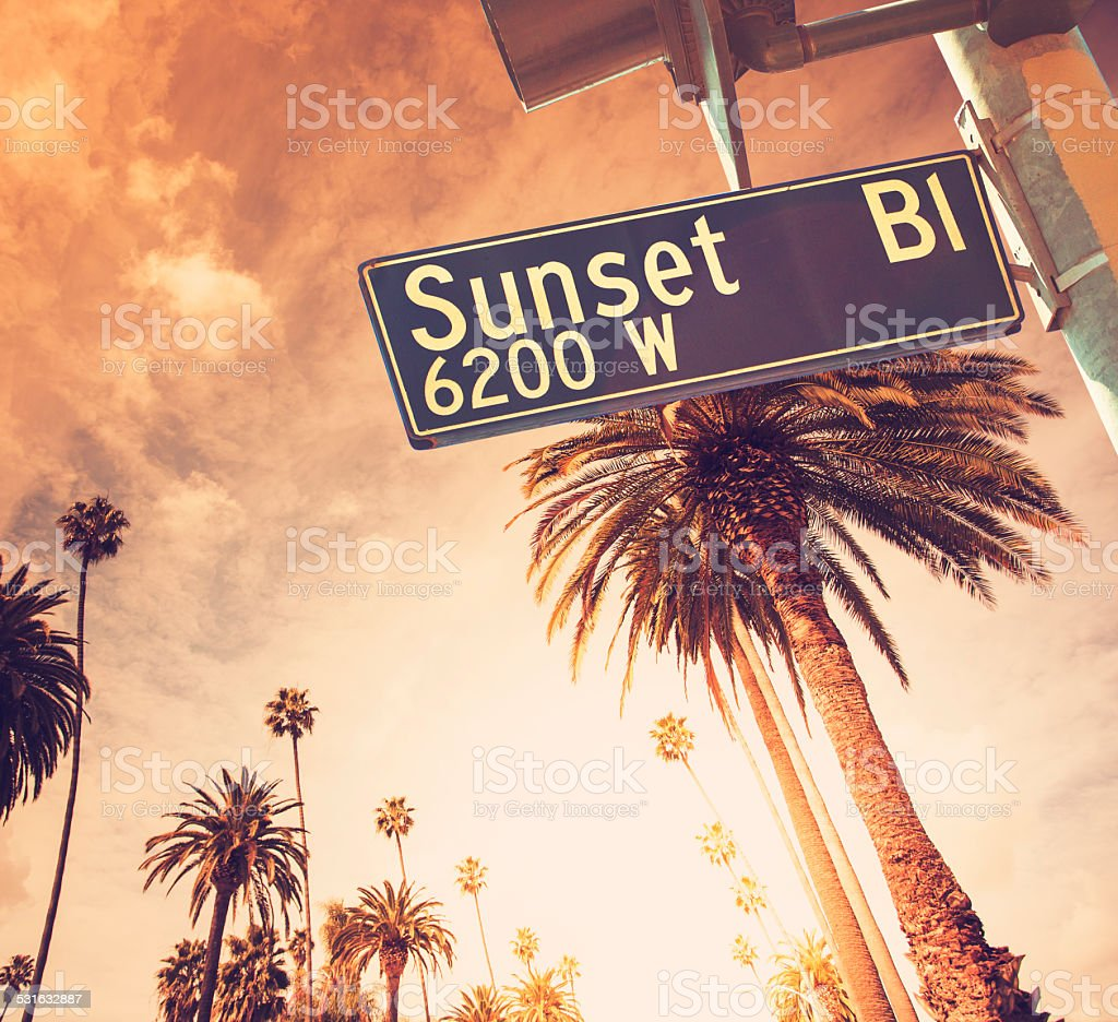 Sunset Blvd in Los Angeles California stock photo