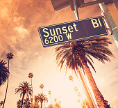 Sunset Blvd in Los Angeles California