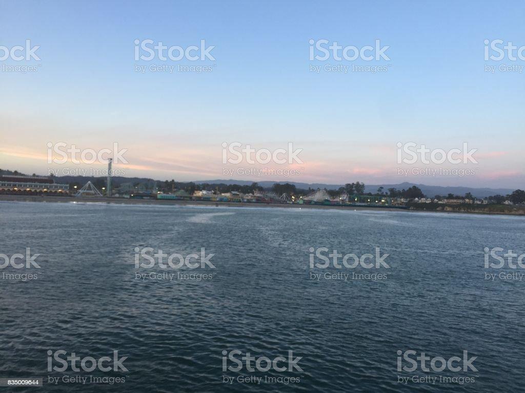 Sunset Boardwalk stock photo