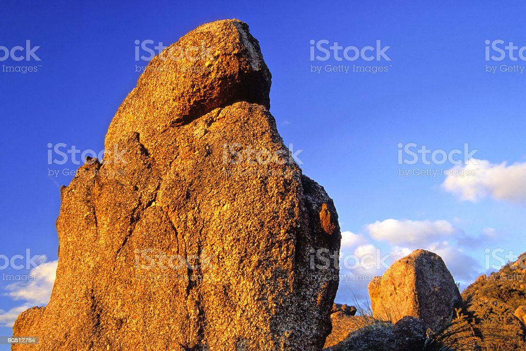 sunset boulders royalty-free stock photo