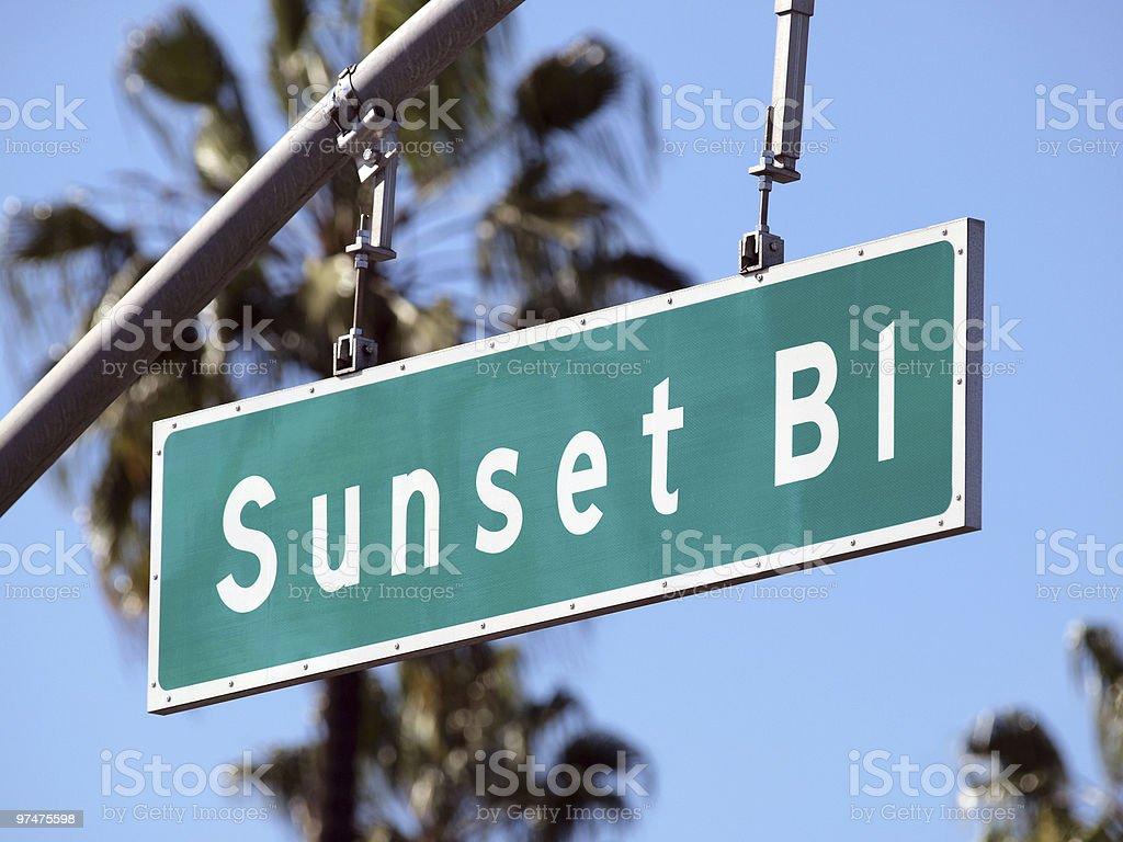 Sunset Boulevard royalty-free stock photo