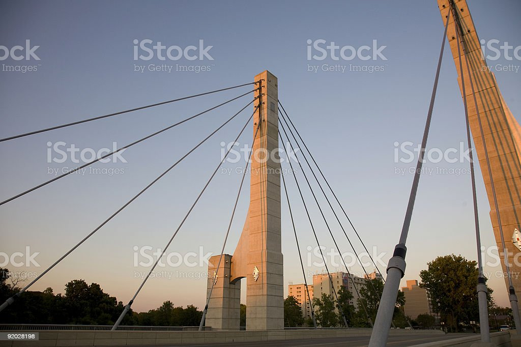 Sunset Bridge stock photo