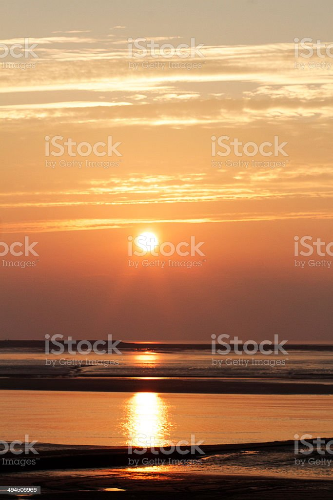 Tramonto, Burnham on Sea foto stock royalty-free