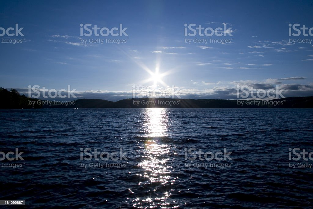 Sunset by lake. royalty-free stock photo