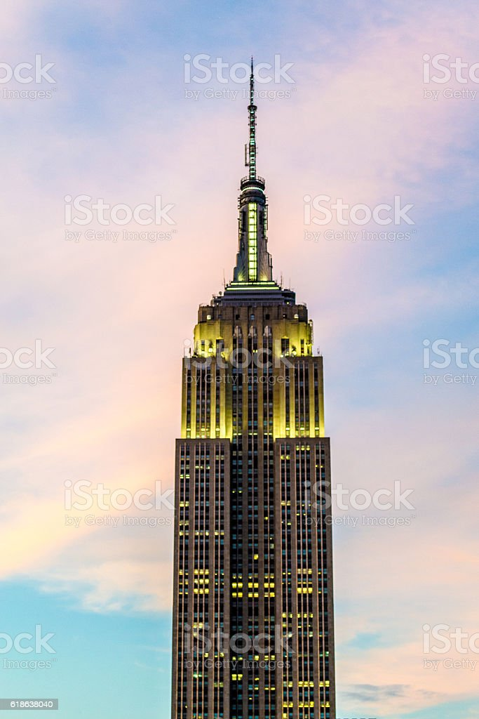Sunset by the Empire State stock photo
