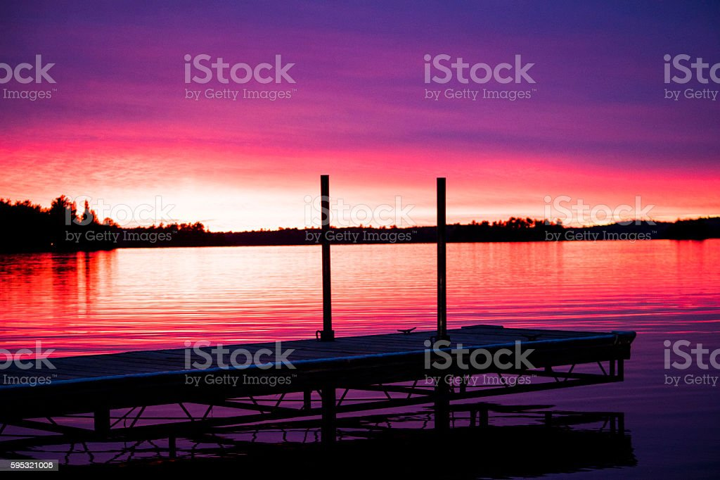 Sunset by the lake royalty-free stock photo