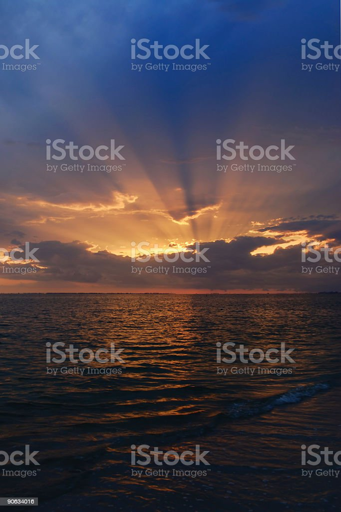 sunset by the sea, in florida royalty-free stock photo