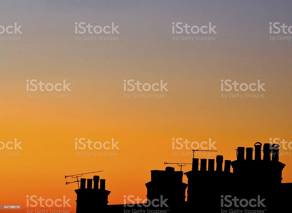 Sunset Chimney stock photo