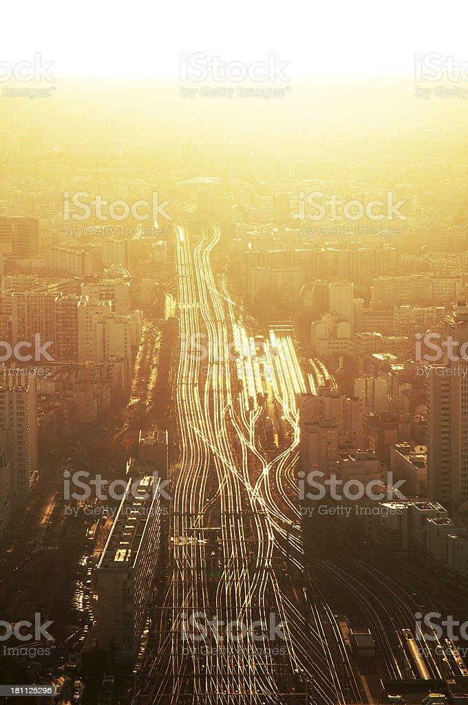 Sunset cityscape royalty-free stock photo