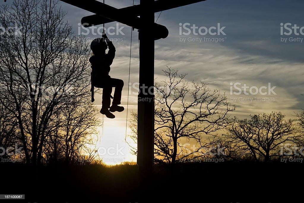 Klettern bei Sonnenuntergang Lizenzfreies stock-foto