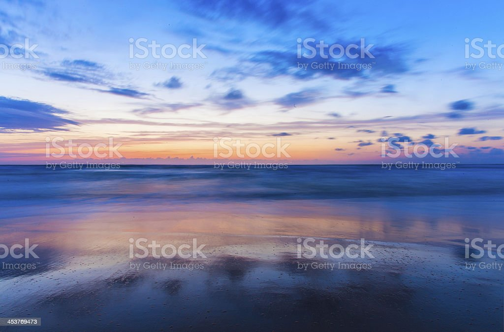 Sunset Cloud Reflections royalty-free stock photo