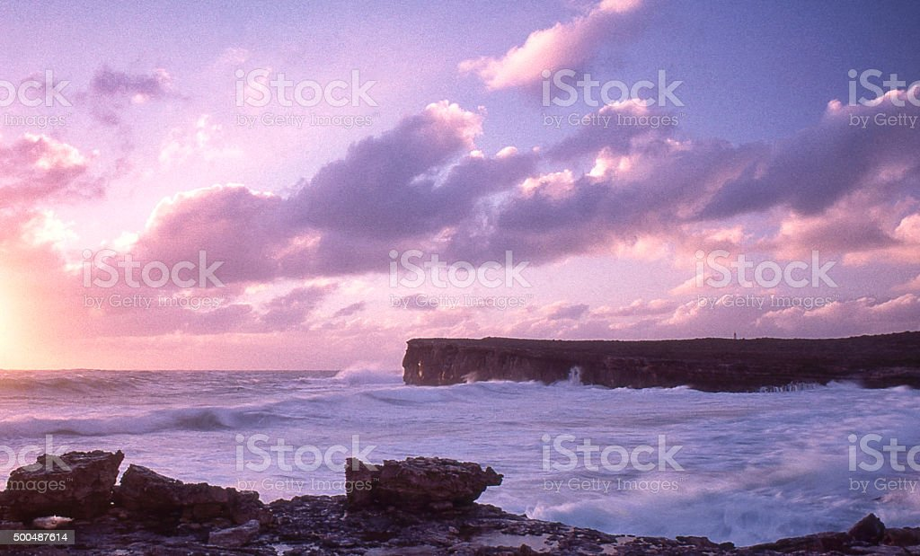 Sunset Clouds Cloudscape Sea  Horizon Over Water stock photo