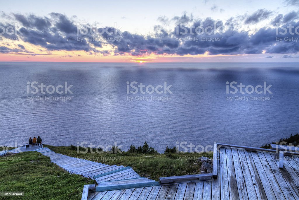 Sunset Clouds on the Gulf of St. Lawrence stock photo