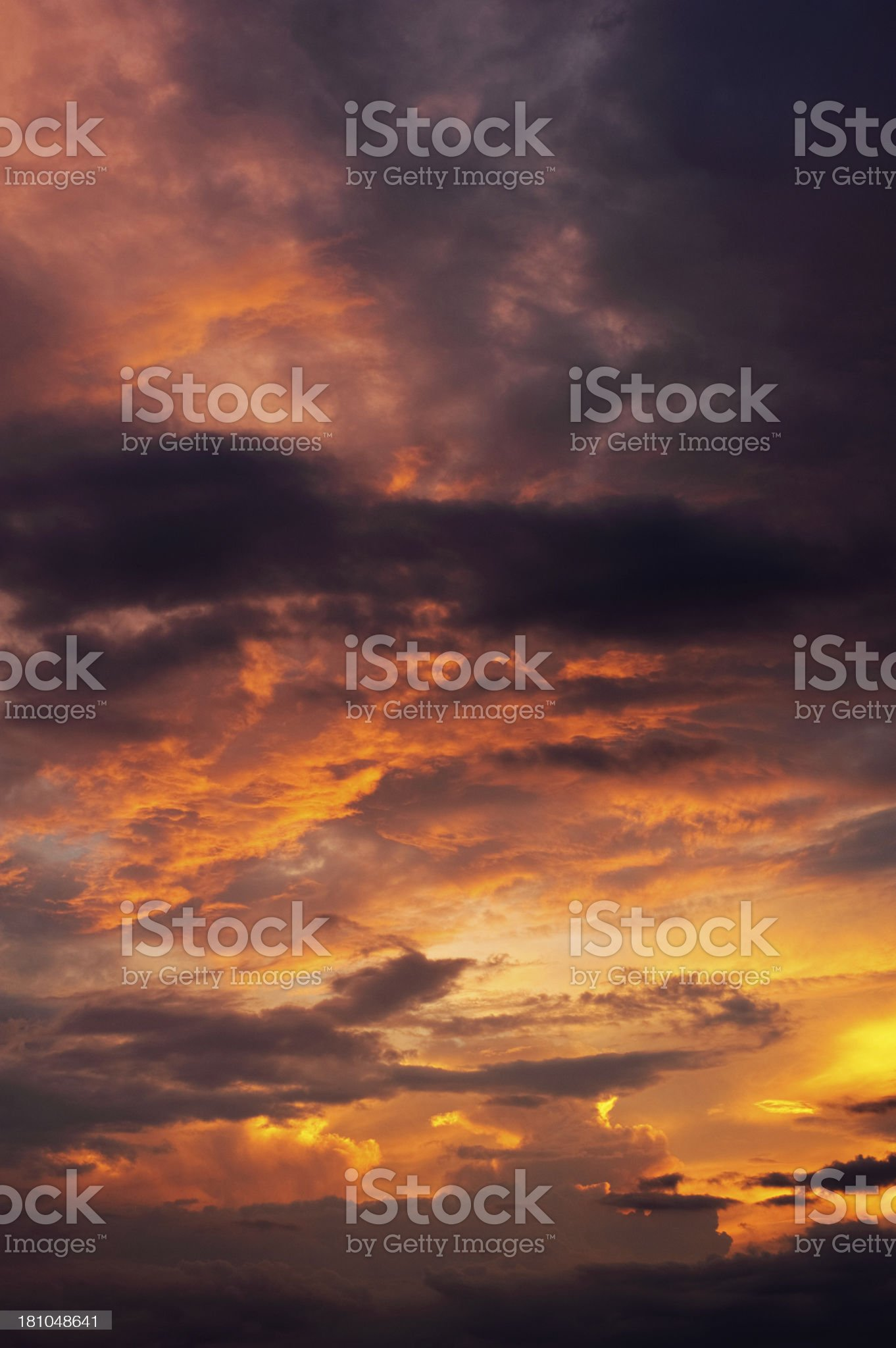 Sunset clouds royalty-free stock photo