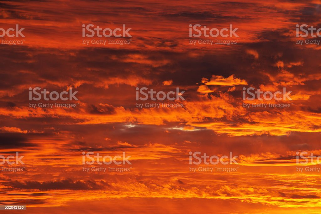 Sunset Clouds Statosphere Southwest Sky stock photo