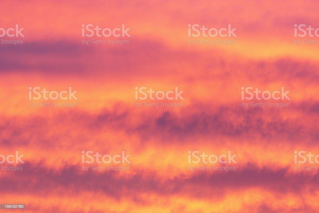 Sunset Cloudscape Sky Arizona Weather royalty-free stock photo