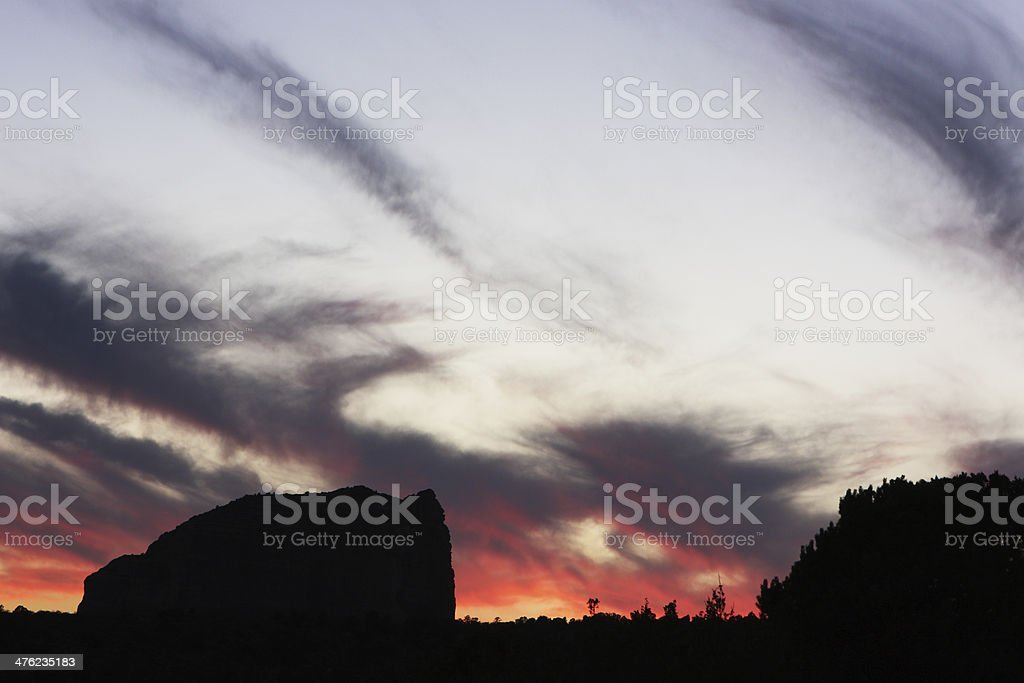 Sunset Cloudscape Sky Sedona Wilderness Landscape royalty-free stock photo