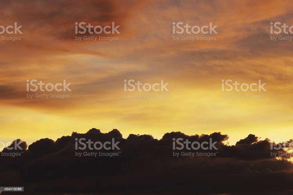 Sunset Cloudscape Stratosphere Atmosphere Sky royalty-free stock photo