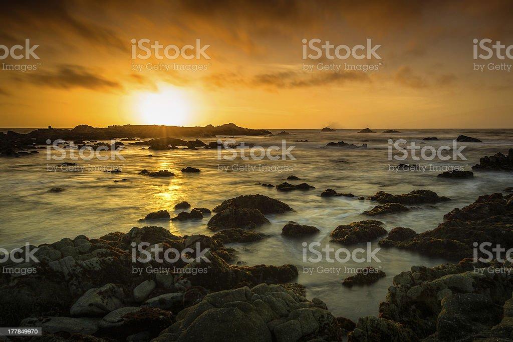 Sunset Coast stock photo