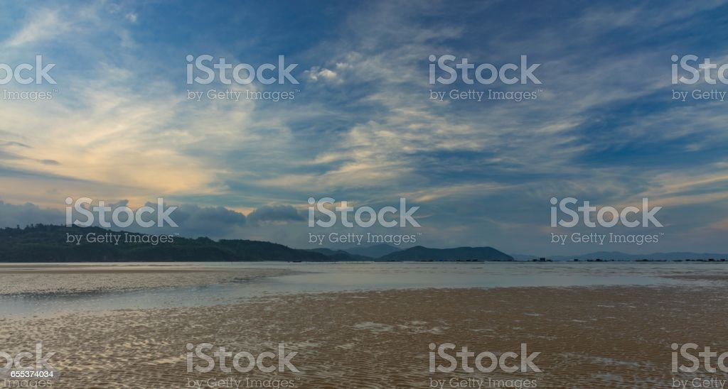 Sunset Coastline Vietnam stock photo