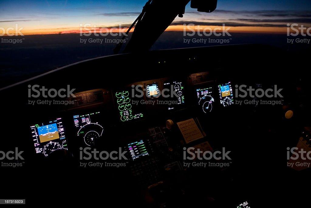 Sunset Cockpit royalty-free stock photo
