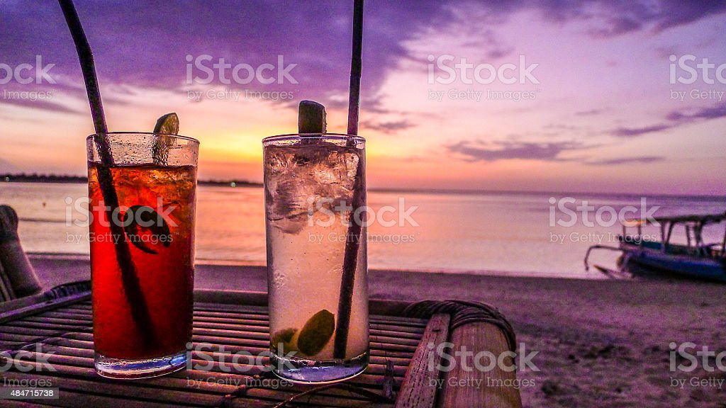 Sunset Cocktails stock photo