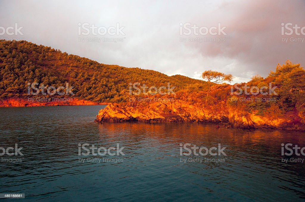 sunset colors royalty-free stock photo