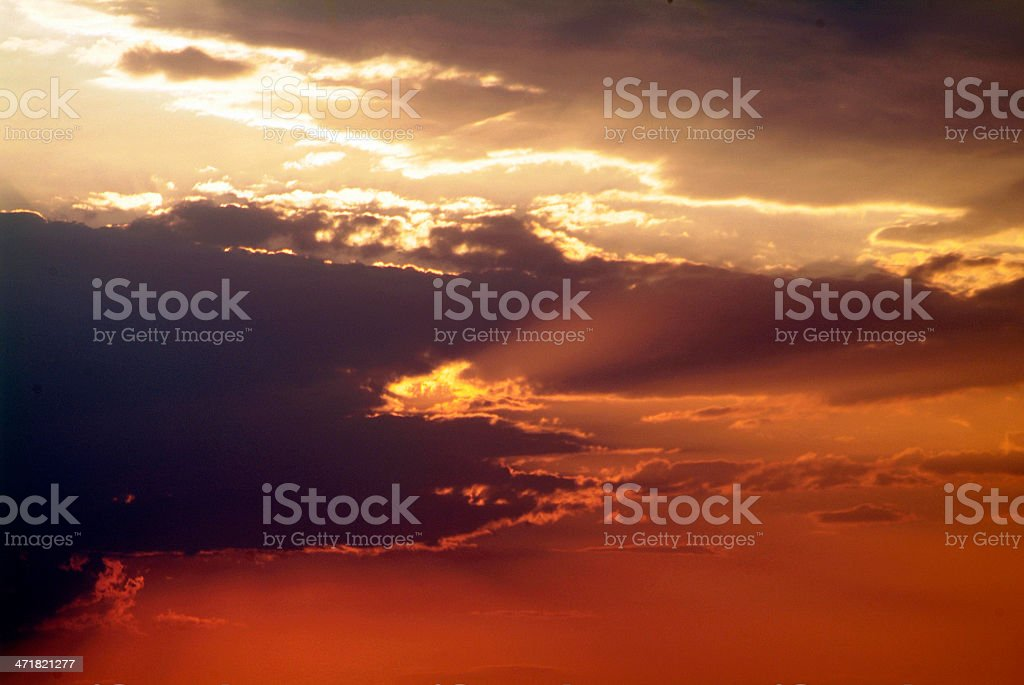 sunset croatia royalty-free stock photo