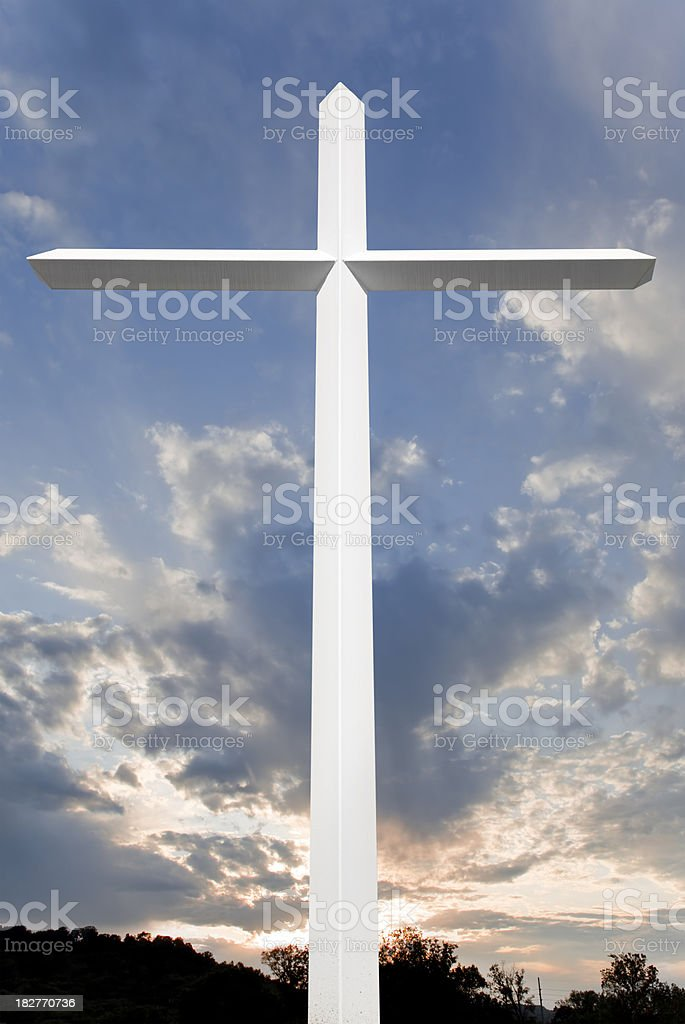 Sunset Cross royalty-free stock photo