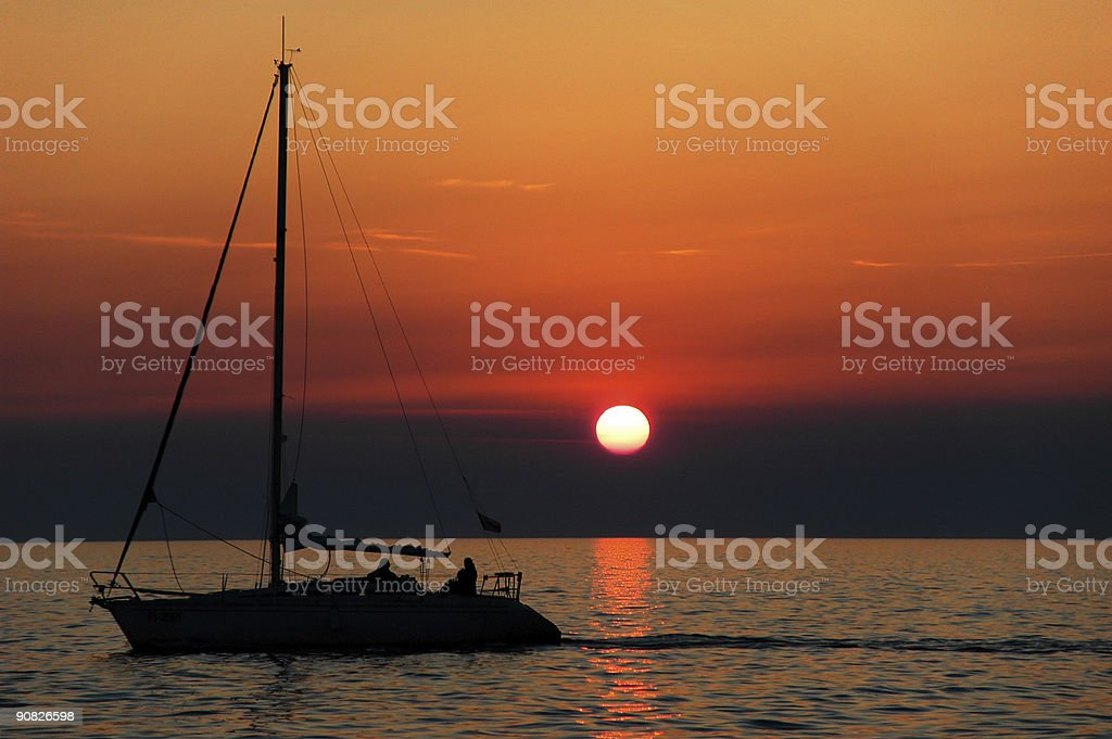 Sunset Crossing royalty-free stock photo