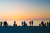 Sunset Crowd on Captiva Island
