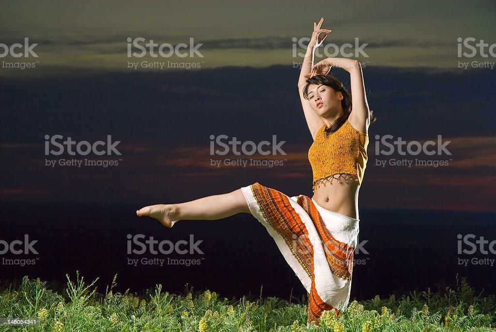 Sunset dances royalty-free stock photo