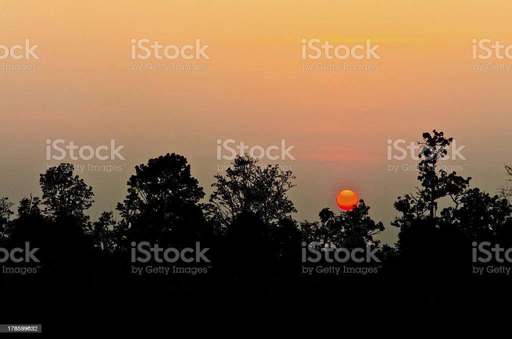sunset, dawn, dusk royalty-free stock photo