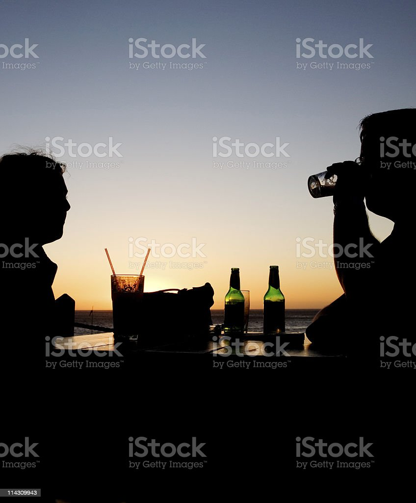 Sunset drinks royalty-free stock photo