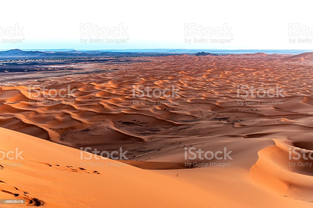 Sunset, Erg Chebbi Sand Dunes, Morocco, Northern Africa stock photo