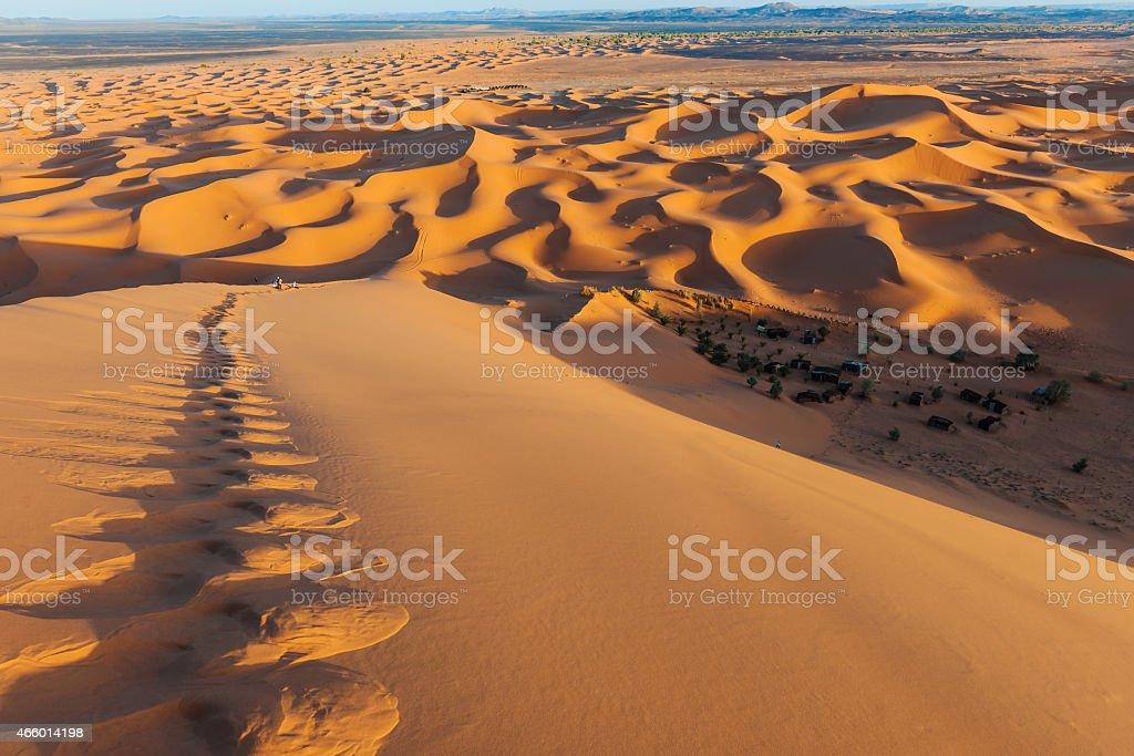Sunset, Erg Chebbi Sand Dunes, Morocco, Northern Africa stock photo