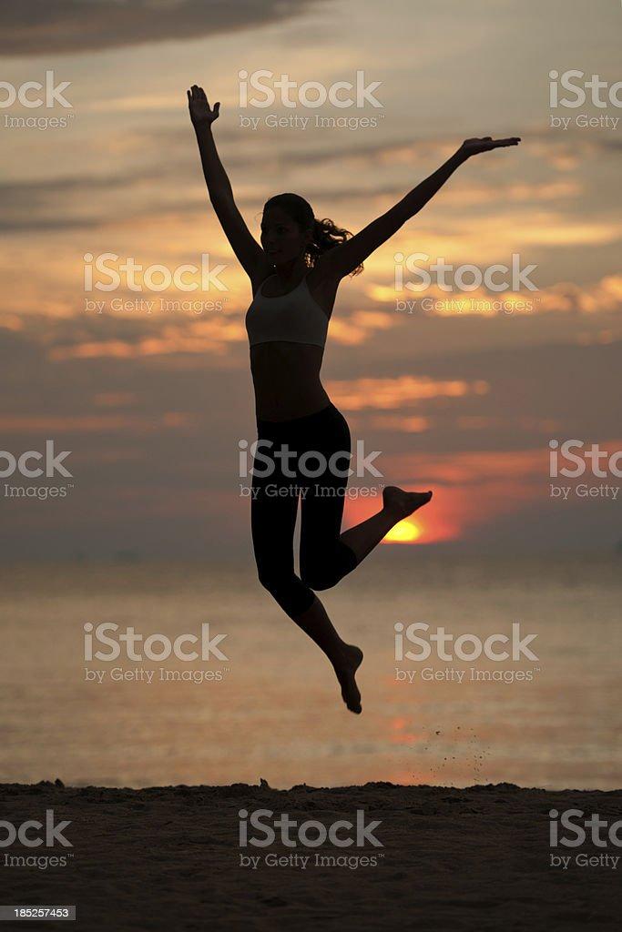 Sunset Exercise (XXXL) royalty-free stock photo