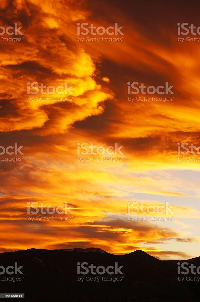 Sunset Explosion! stock photo
