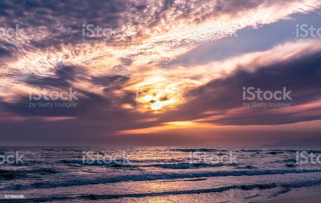 Sunset Eye stock photo