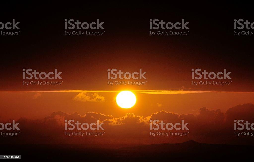 Sunset fisheye stock photo