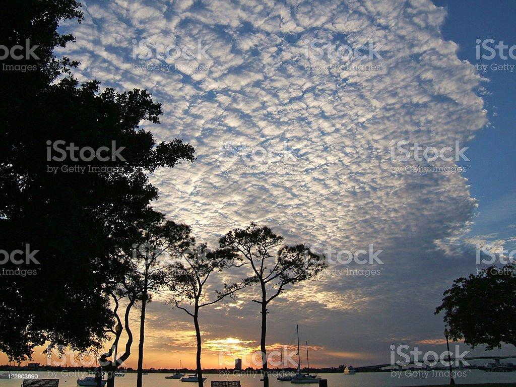 Sunset Florida stock photo