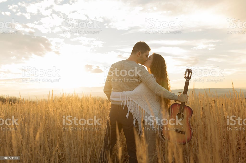 Sunset For Two stock photo