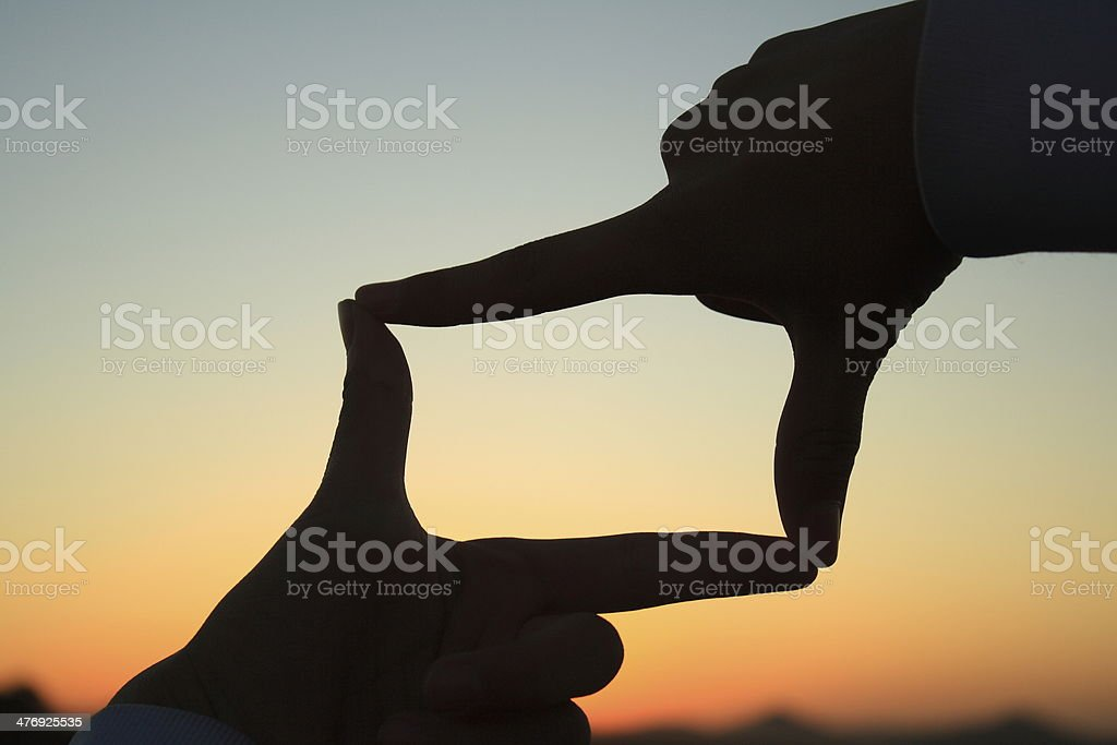 sunset frame stock photo