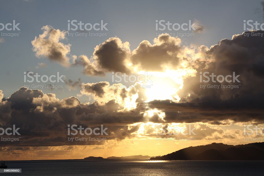 Sunset From Astoria Oregon stock photo
