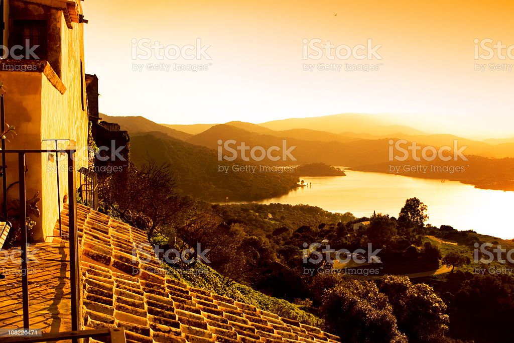Sunset From Castellar royalty-free stock photo