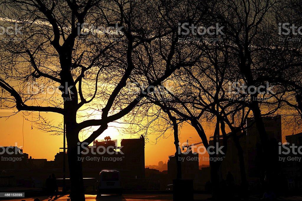 Sunset From Gezi Park stock photo